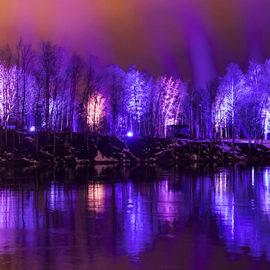 Oulu Suomi 100 valoissa