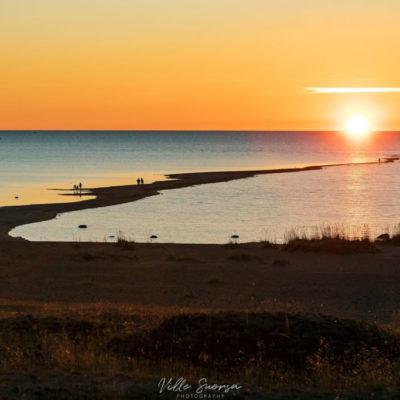 Auringonlasku Kalajoen Hiekkasärkillä