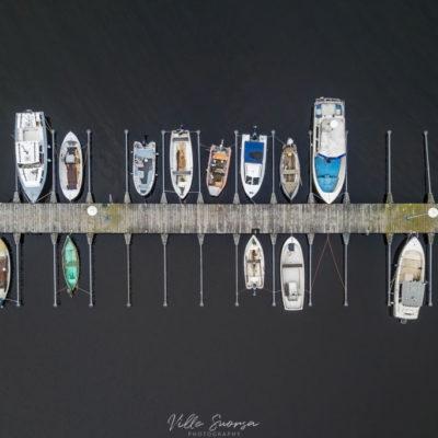 Veneitä Lumijoen Varjakassa