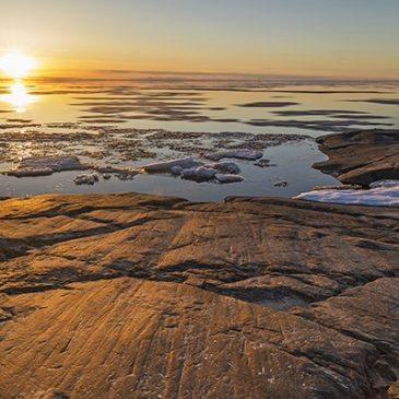 Auringonlasku Kalajoen rannoilla