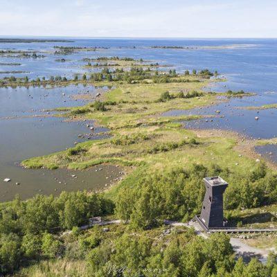 Näkötorni ja saaristomaisema
